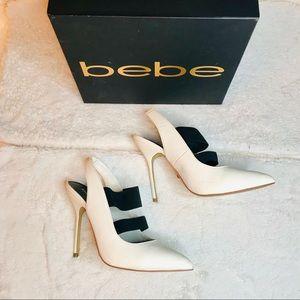 Bebe White Daronie Heels